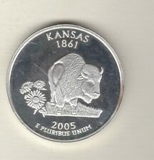 More details for 2005 usa kansas silver one ounce coin in near mint condition.