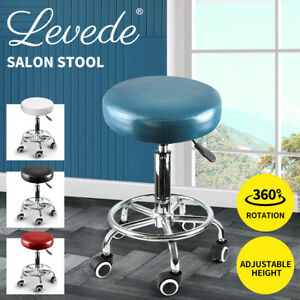 Levede Salon Stool Swivel Hairdressing Barber Bar Stools Chairs Hydraulic Lift