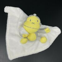 Baby Sun Bum Yellow Gray Monkey Knit Lovey White Security Blanket FAST SHIPPING