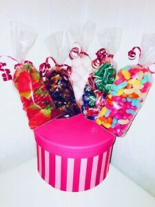 Retro Kids Sweet Candy Gift Box Hamper Party Bouquet Jelly Cola Marshmellow