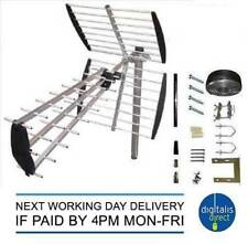 TV Aerial 4G Filter Triple Boom 64 Element Freeview Digital HD Full Install Kit