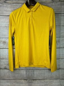 NEW Nike Women's DRI-FIT Golf Polo Shirt Long Sleeve Gold/Yellow Small & Med $70