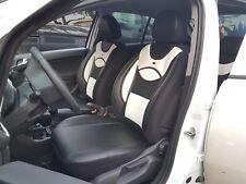 Audi A4 B6 MAß Schonbezüge Sitzbezüge Fahrer & Beifahrer D108 Schwarz-Weiß