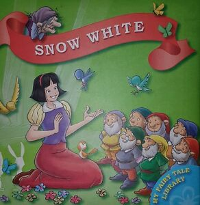 SNOW WHITE FAIRY TALE BOOK HEAVY WEIGHT CARDBOARD PAGES FOR YOUNG CHILDREN