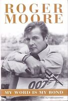 Roger Moore Signed Book