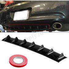 "33"" Universal Car Rear Body Bumper Lip Diffuser Shark Fin 7 Wing Spoiler Kit ABS"
