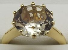 SOLID 18CT YELLOW GOLD SOLITAIRE CITRINE ENGAGEMENT/DRESS RING VALUED AT $2363