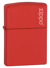 Zippo Windproof Red Matte Lighter With Zippo Logo,  233ZL, New In Box