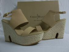 Cole Haan Size 10 M Arden Sandstone Leather Open Toe Heels New Womens Shoes