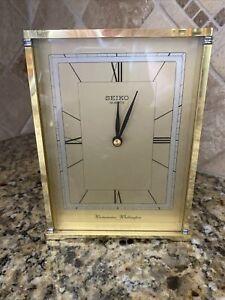 Seiko Quartz Westminster Whittington Clock Japan Dual Chime Desk Mantel