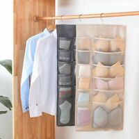 30 Pockets Clear Over Door Hanging Bag Sock Bra Rack Hanger Storage Organizer US