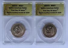 2009 DP Sacagawea Dollar 2 Coin Set 3x Set Lott ANACS MS 67