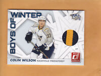 2010 11 DONRUSS BOYS OF WINTER PRIME JERSEY #67 COLIN WILSON SP 100 PREDATORS