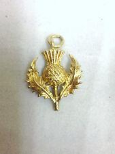 9 ct carat 375 Gold Vintage Style Scottish Thistle Charm
