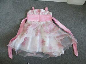 Pink & white kids occasion/bridesmaid dress - Age 18/24M