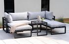 Garden Furniture Lounge Set, Grey Cushion - Rrp £899.00