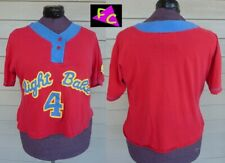 80s Gitano red Blue Yellow Graphic shirt Plus 44 Sleep Night Babe Baseball 1Xl