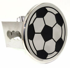 """Chrome Soccer Ball Tow 2"""" Receiver Hitch Cover Real Stainless Steel Plug"""