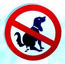 Aufkleber sticker Verbotsschild kein Hundeklo Hunde verboten  no dogs 9,8 cm (M