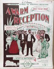 Ragtime~Black Americana~5 Vintage Pictorial Sheet Music~1899-1915~Jazz~Cake Walk