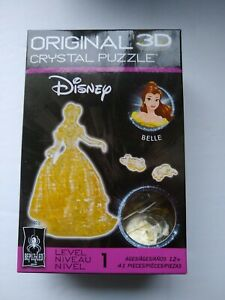 BePuzzled Original 3D Crystal Jigsaw Puzzle - Belle Disney Beauty and the...