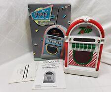 Ultra Rare! Popworks Cherry 7up Jukebox Model 1-9873 Radio/Cassette Lights Up!
