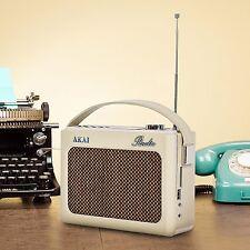 Akai Retro Radio DAB Faux Leather Cream A60016C