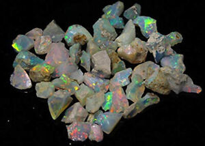 123.52Cts100% natural multi power ethiopian opal rough quality gemstones Lot-13