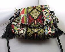 Purse Aztec Tapestry Tassels Hobo Bag Shoulder Bag Zipper & Drawstring NWT T58