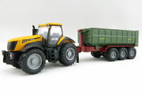 Siku 1855 - JCB Fasttrac 8250 Tractor with Hook Lift Trailer - 1:87 Scale