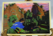 "Landscape Art Lenticular Card Minecraft Mine Chest 4"" x 6"" New"
