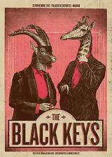 The Black Keys 2012 Poster Madrid Signed & Numbered #/210 Rare!!!