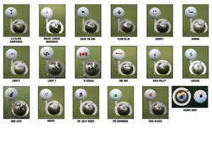 Tin Cup Golf Ball Marking System. Various Designs.
