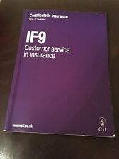 IF9 - Customer Service In Insurance - 2016/17 Study Text