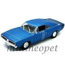 MAISTO 31387 1969 69 DODGE CHARGER R/T 1/18 DIECAST MODEL CAR BLUE