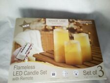 Flameless Candles Set of 3 With Remote Timer Adjustable Brightness White