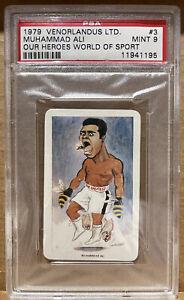 1979 Venorlandus Our Heroes World Of Sport Muhammad Ali #3 PSA 9
