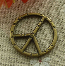 free ship 160 pieces Antique bronze peace symbol charms 25mm #2021
