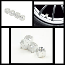 car truck ATV Chrome Silver Dice Tire/Wheel Stem Air Valve covers Universal 4pcs