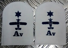 Genuine Pair of Royal Navy RN Air Engineering Avionics Patches / Badges - NEW