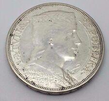1929 LATVIA SILVER 5 LATI COIN