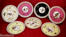 7 Late 19th Century Porcelain Spode Bird Plates for Davis Collamore & Co.
