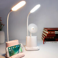 USB Rechargeable LED Desk Lamp Touch Dimming Adjustment Table Lamp for Reading i