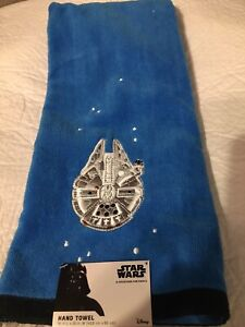 STAR WARS BRIGHT BLUE HAND TOWEL NEW EMBROIDERED SHIP