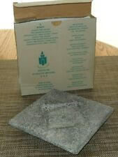 PartyLite Granite Time Square Candle Tray ~ Clean Pre-Owned In Original Box