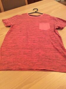 boys clothes 12 years Next Red Navy Flecked Cotton Short Sleeved Top T-Shirt