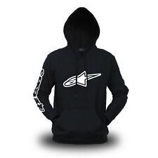 Genuine Official Alpinestars Extreme Motocross Racing SBK Black Hooded Hoodie