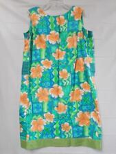 ISLAND FASHIONS Hawaiian Dress Size Medium - Orange Flower Made in Hawaii