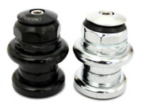 "FSA 1"" Inch Threaded Traditional Chrome Headset 22.2/26.4mm Black, Silver"