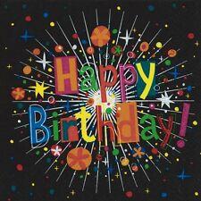 """20 Servietten""""Birthday Cracker""""Geburtstag Teenager Teens 18.Geburtstag 33x33 Top"""